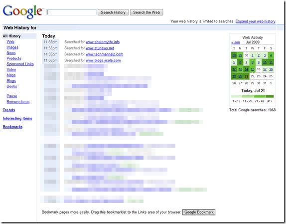 GoogleWebHistory