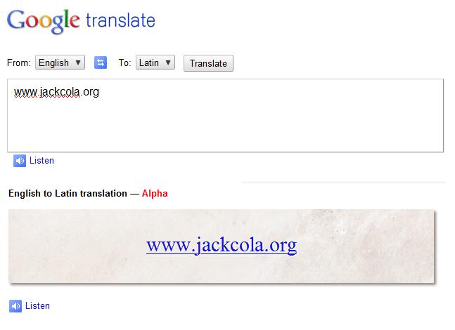 English To Latin Google 31