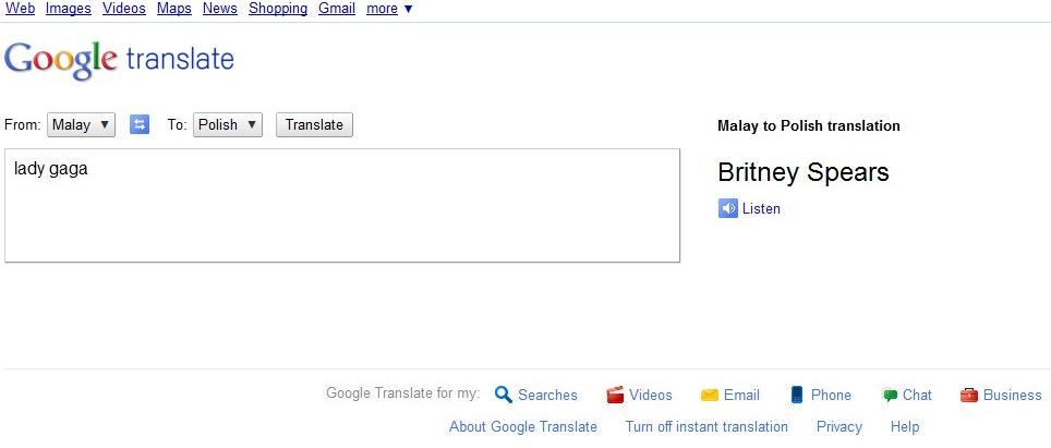 The Best Google Translator Easter Eggs   JackCola org