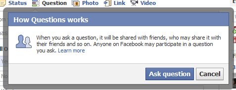 Facebook Question Info
