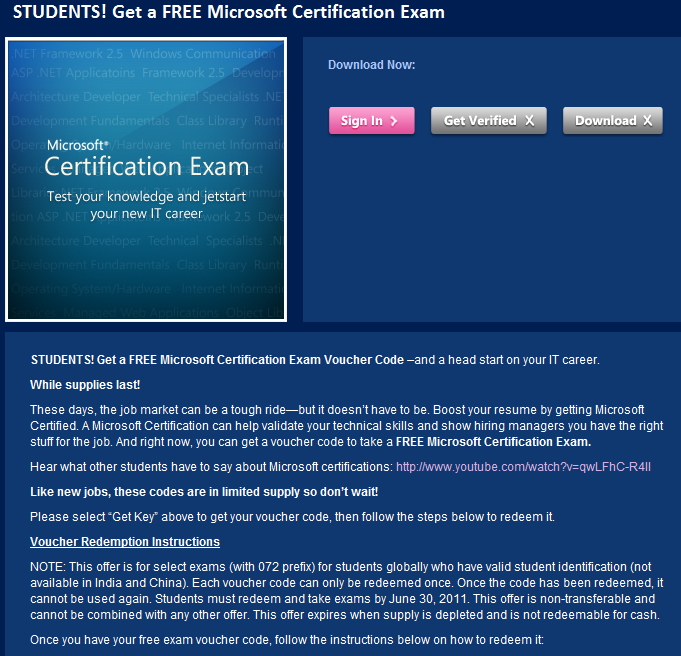 Students Complete A Free Microsoft Certification Exam Jackcola