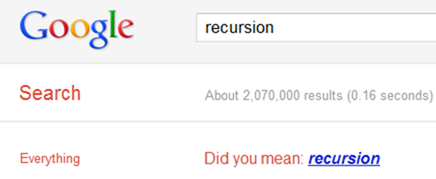 Recursion Google Search Easter Egg