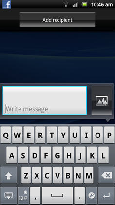 Sending a text message on the Xperia Arc