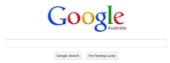 Google Search Australia Homepage
