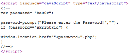 javascriptpassword