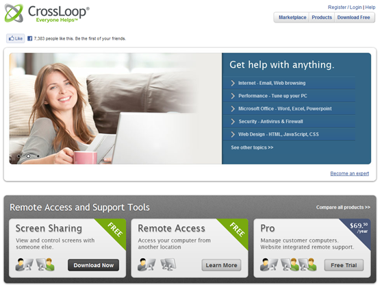 Crossloop HomePage