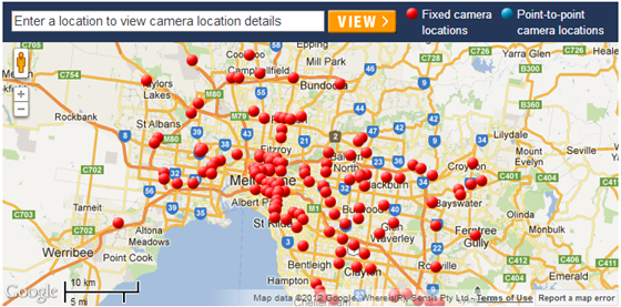 Red Light Camera Locations Reverse Search