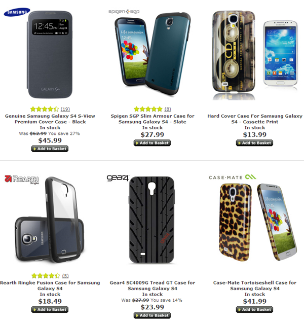 Samsung Galaxy S4 Cases Mobile Zap