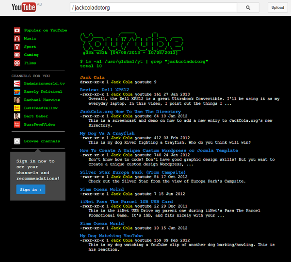 YouTube Easter Eggs Geek Week Command Line