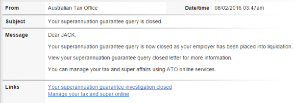 Superannuation ATO Liquidation