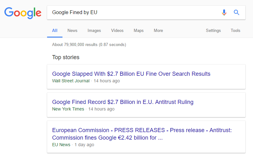 Google Fined AUD$3.62 Billion By EU – Here's Why It's Wrong